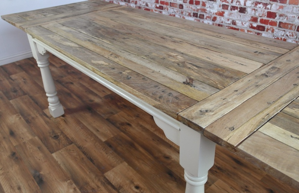 Rustic Reclaimed Wood Farmhouse And Industrial Dining Tables And Chairs By Fo