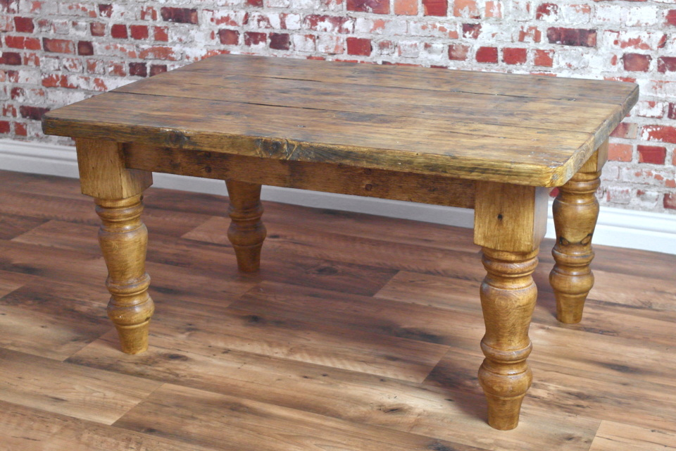 Rustic Farmhouse Pine Coffee table made from Reclaimed Wood