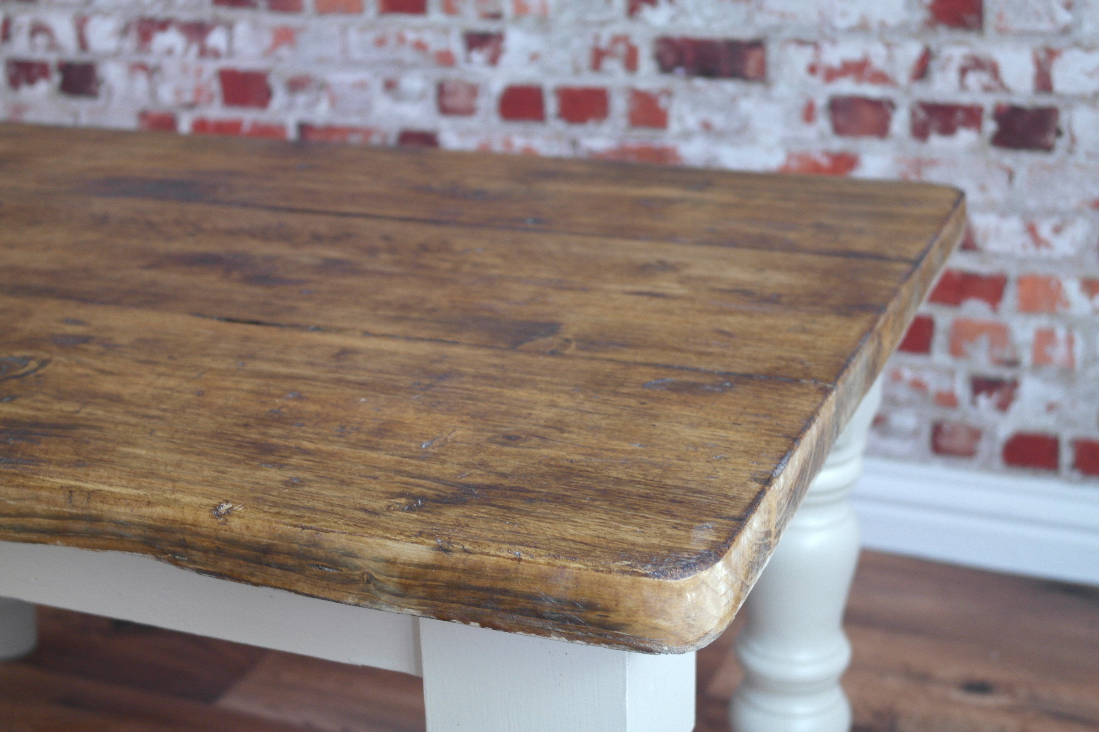 Rustic Painted Pine Coffee Table Made From Reclaimed Wood
