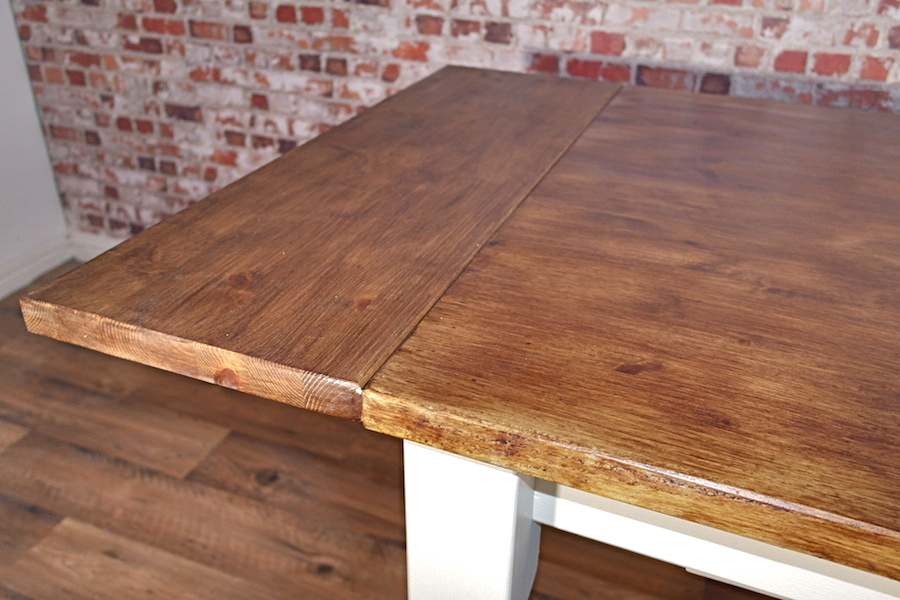 Extending Pine Farmhouse Dining Table Bespoke Size