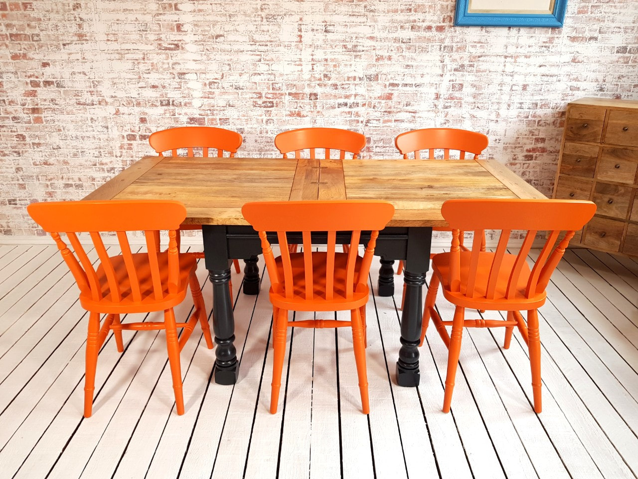 Extending Rustic Farmhouse Dining Table Set Drop Leaf Painted In Farrow Ball Folding Ergonomic Space Saving Extendable