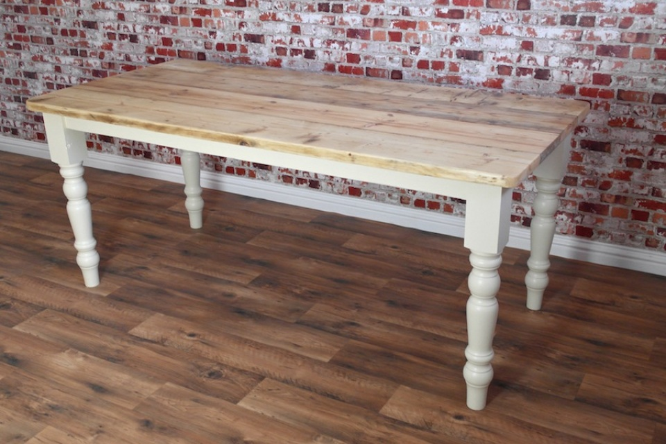 Reclaimed wood dining tables rustic farmhouse style for Price of reclaimed wood