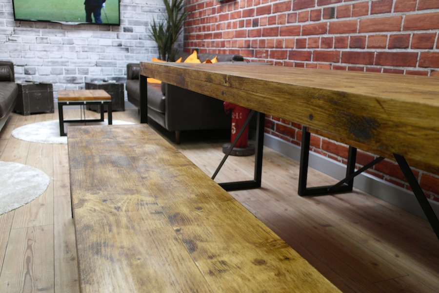 Industrial Dining Table with Steel Frames and Reclaimed Wood : s921829714726857809p99i12w900 from www.forget-me-knot.co.uk size 900 x 600 jpeg 154kB